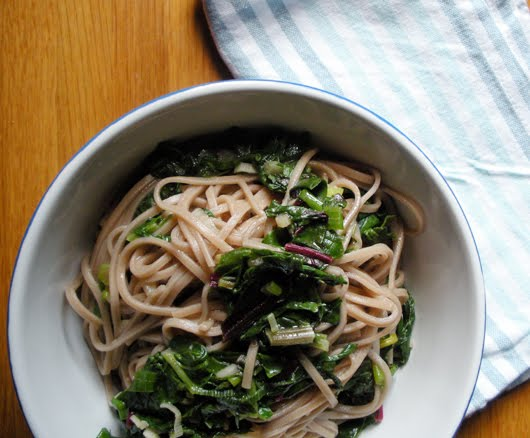 Garlic Soba Noodles |